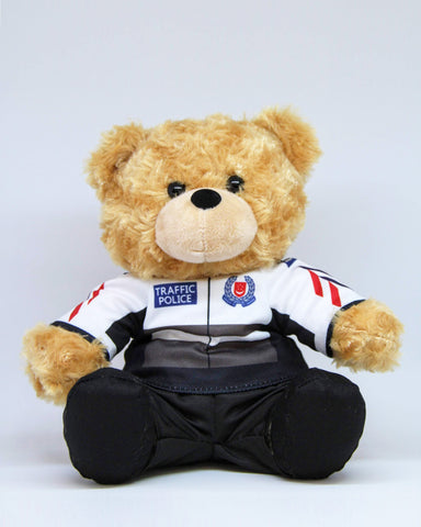 Teddy Bear in Traffic Police Riding Jacket