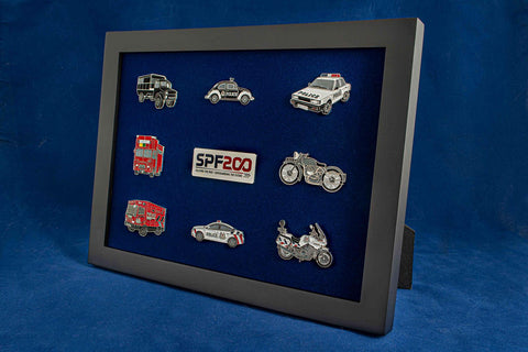 Framed Badges of Past to Present Vehicles (Special SPF200 Edition)