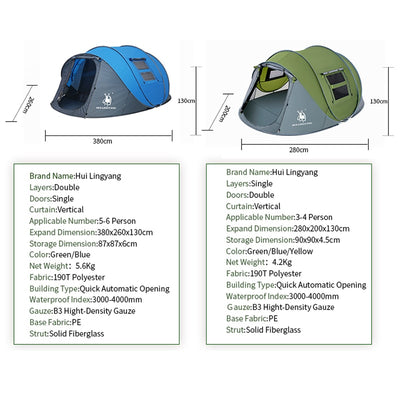 4-6 Person Outdoor Pop-Up Tent