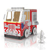 Color-in DIY Cardboard Craft Playhouse Fire Truck
