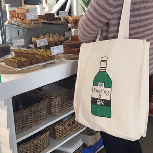 Knitting and Gin Tote Bag