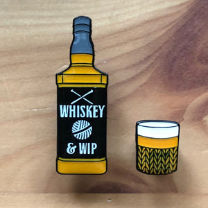 Whiskey and WIP Pin Badge