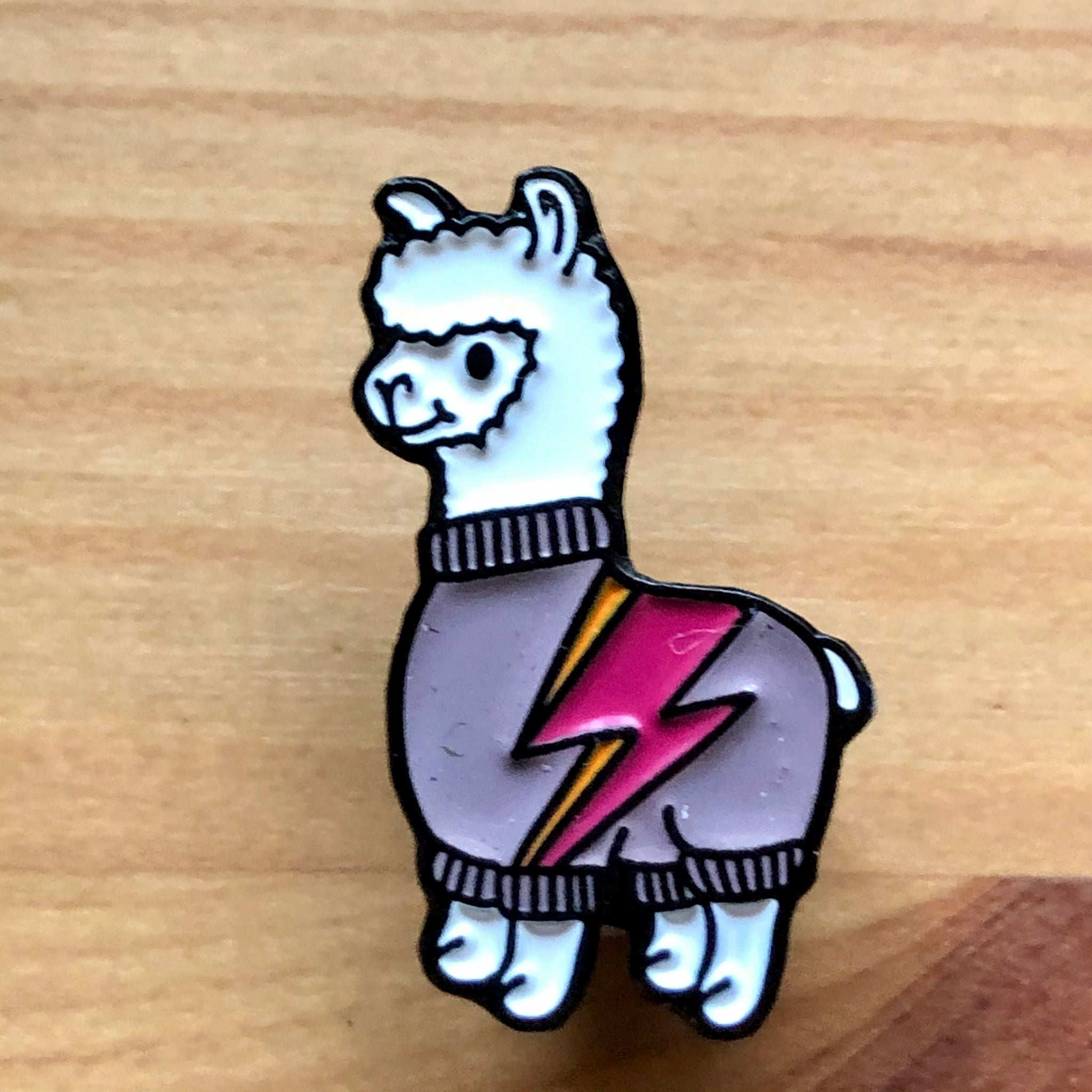 Voltpaca Knitting Pin Badge