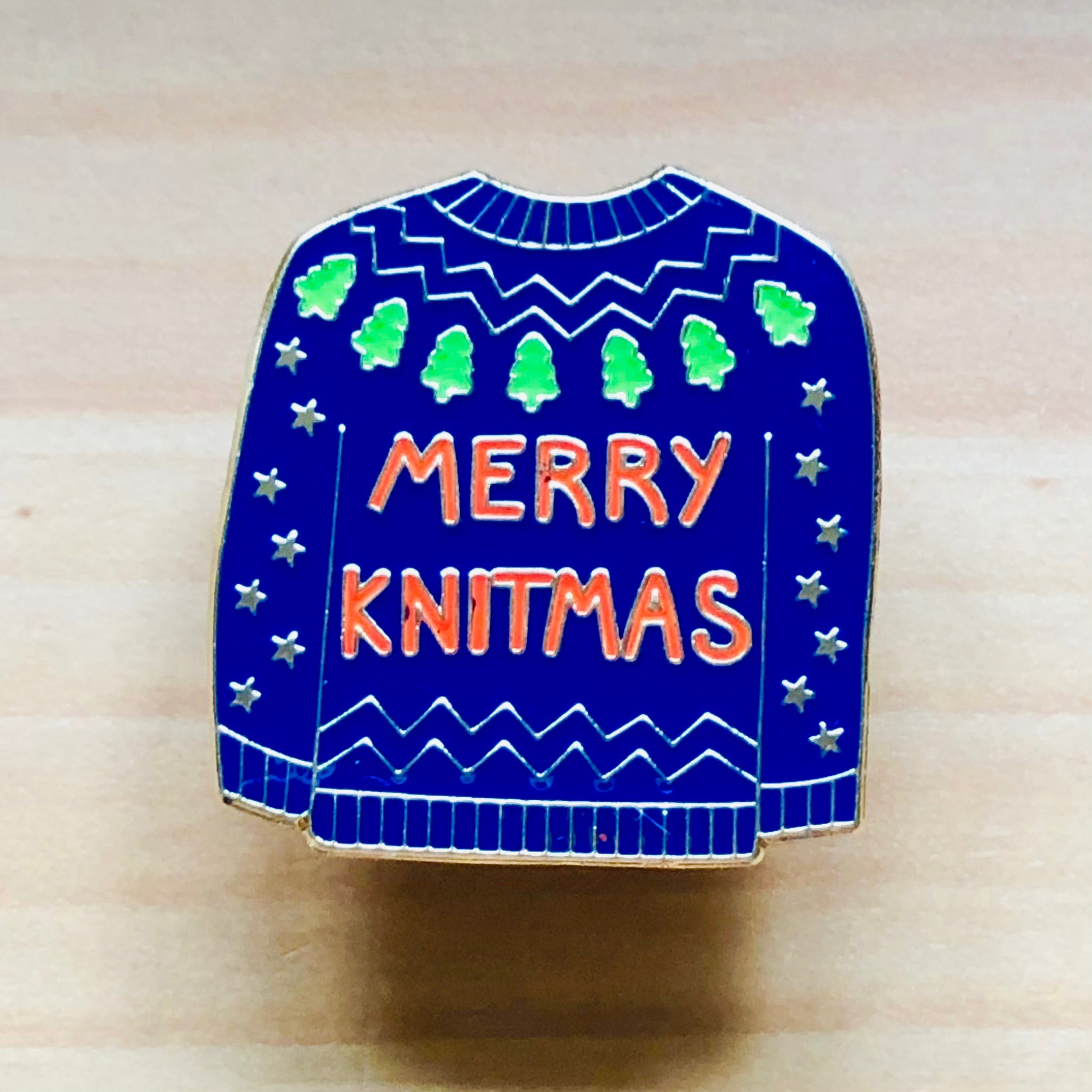 Merry Knitmas Pin Badge