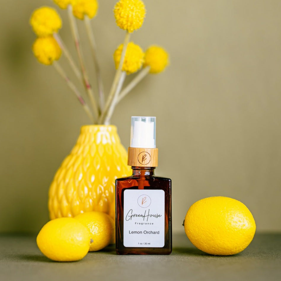 Lemon Orchard, Greenhouse Fragrance, Natural Organic fragrances