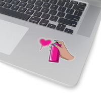 Love spray sticker