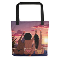 Sunset girls tote bag