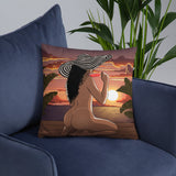 Sunset bay Pillow