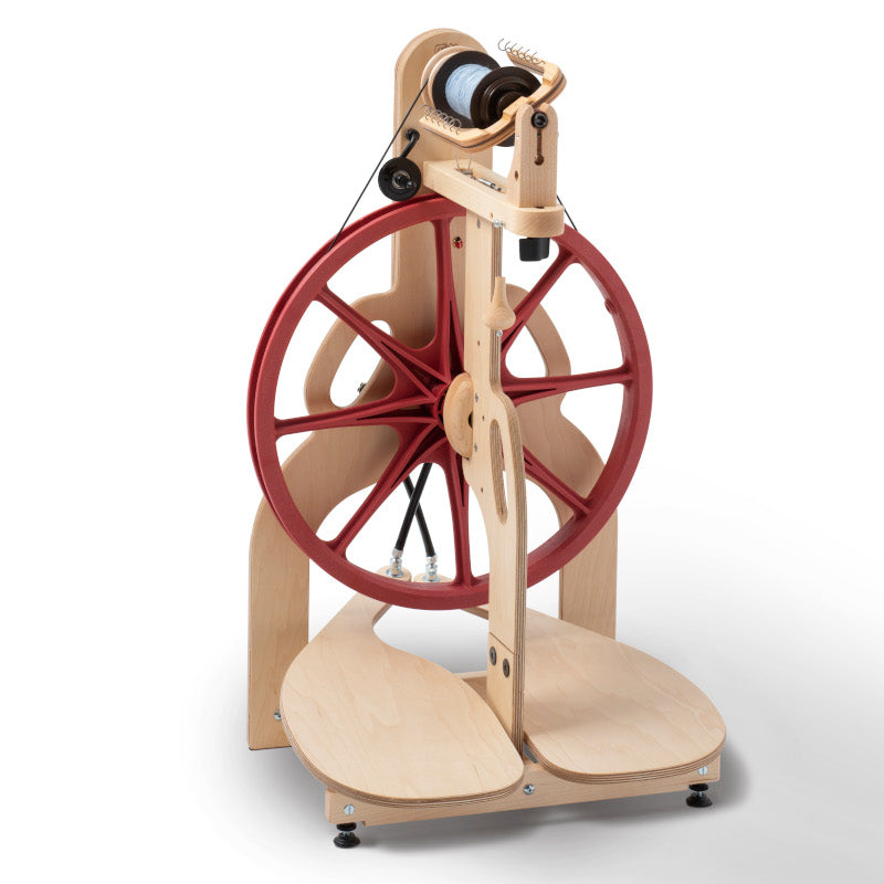 ladybug double treadle spinning wheel