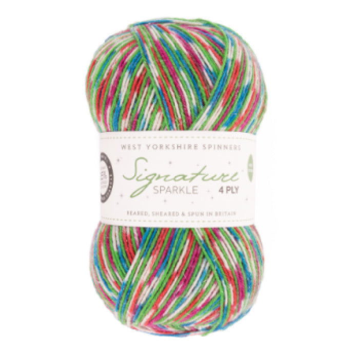 WYS Signature 4 Ply Christmas Colours - 905 Fairy Lights - Sparkle