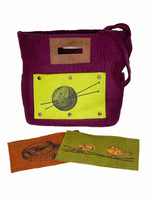 fibres of life tote bag with buttons bundle