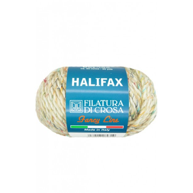 Full Ball of Ivory Halifax yarn