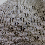 Hoarfrost knit in undyed wool/cotton