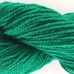 bright medium green swatch of yarn