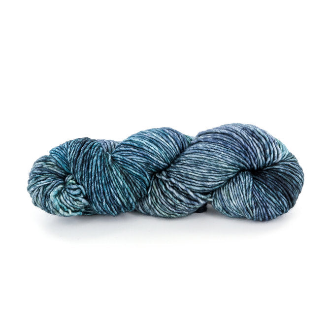 variegated blues skein of yarn