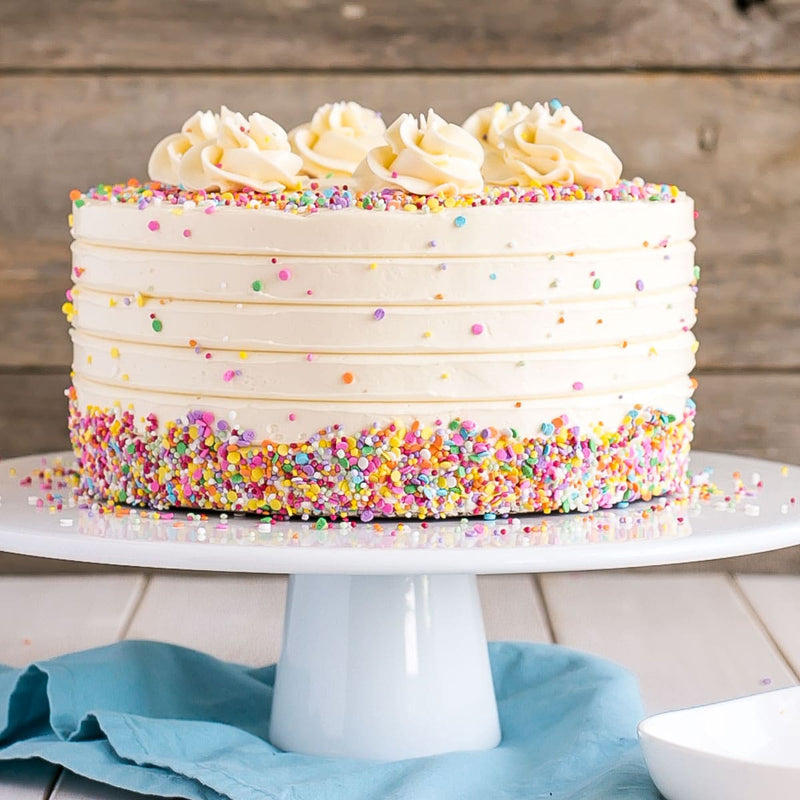 vanilla cake with sprinkles