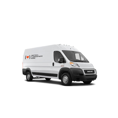 Ram Promaster van with Flarespace flares to extend the interior space of the vehicle