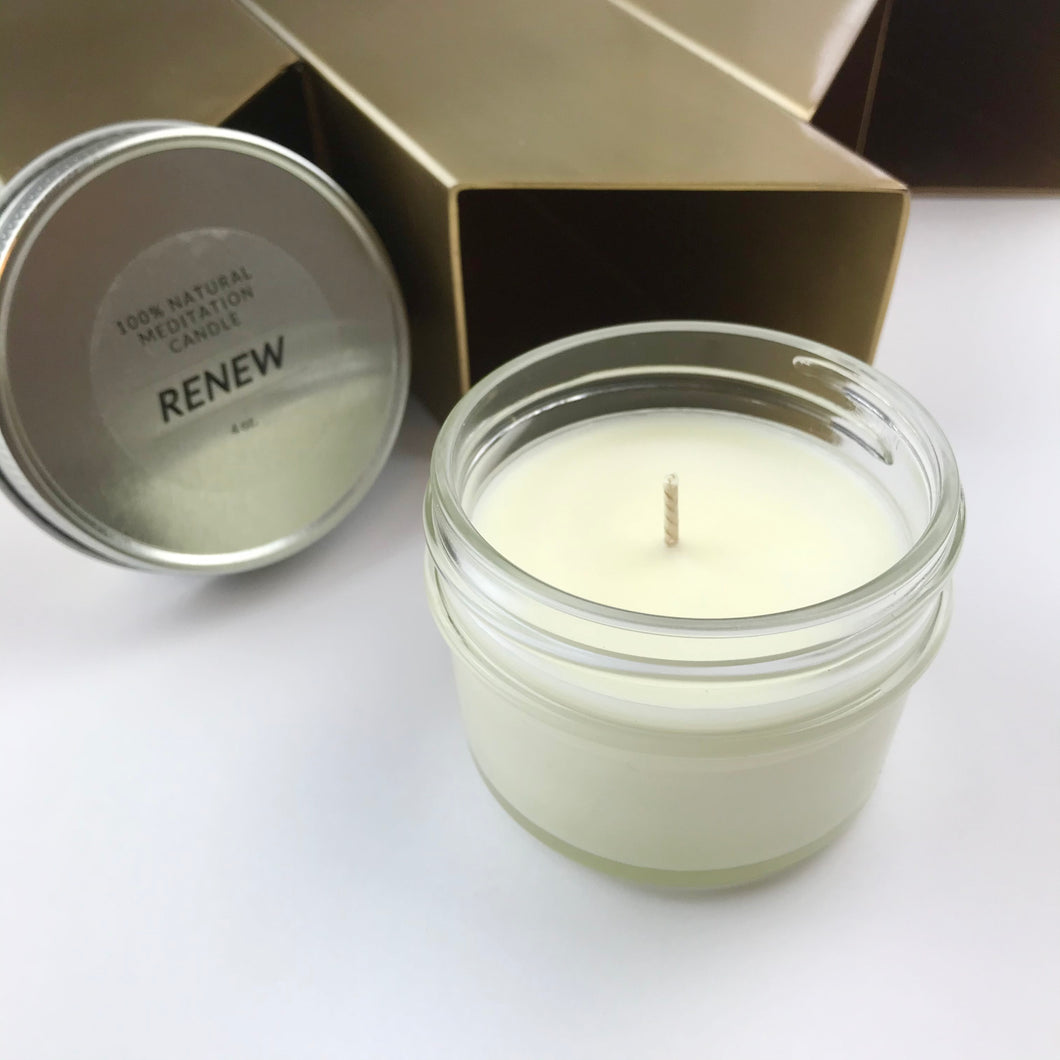 RENEW 100% Natural Meditation Candle