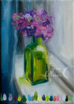 "Load image into Gallery viewer, Green Jar Study || 5x7"" Original Oil Painting on Canvas"