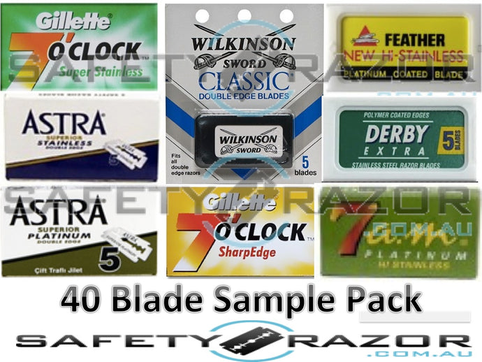 Double Edge Blade Sample Pack