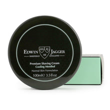 Load image into Gallery viewer, Edwin Jagger Natural Premium Shaving Cream Tub, Cooling Menthol