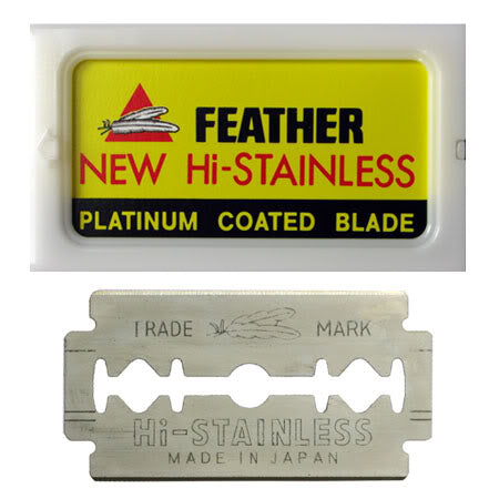 Feather New Hi-Stainless Blades - 10 Packets of 5 blades
