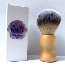 Load image into Gallery viewer, Grumpy Rhino Wooden Handle Synthetic Bristle Shaving Brush