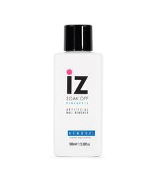 Iz Beauty of London Gel Nail Remover Soak off Solution 100ml