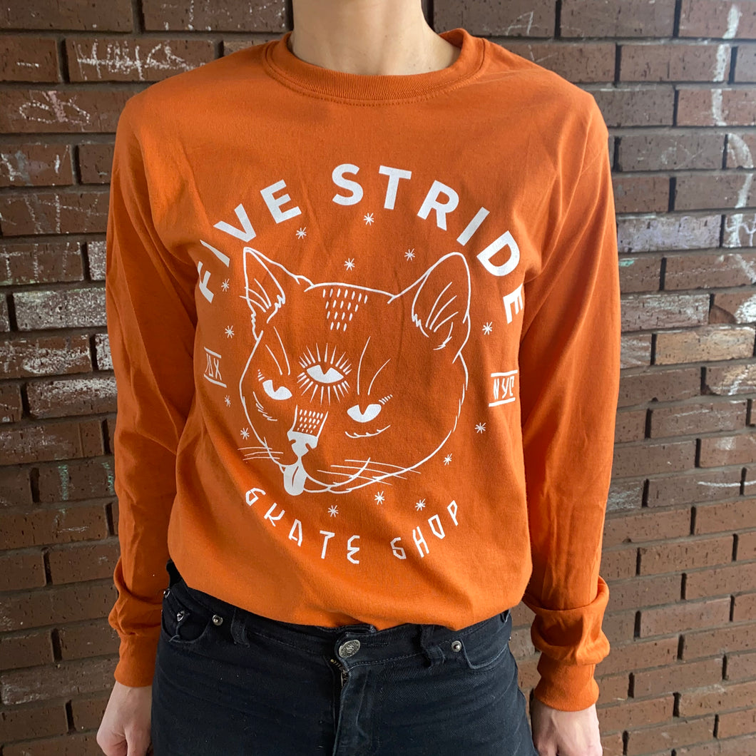 Five Stride 3rd Eye Cat Long Sleeve Shirt
