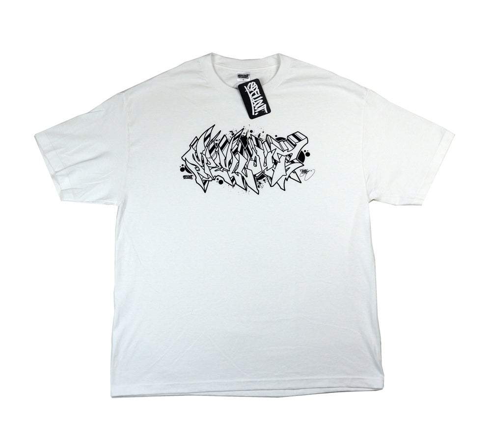 THE NASTE NASER ARTIST SERIES WHITE TEE/BLACK PRINT (XXXL ONLY)