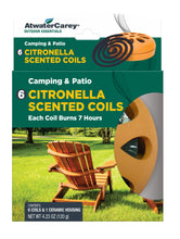 Load image into Gallery viewer, Atwater Carey Citronella Scented Coil Kit, 6 Coils and Ceramic Base