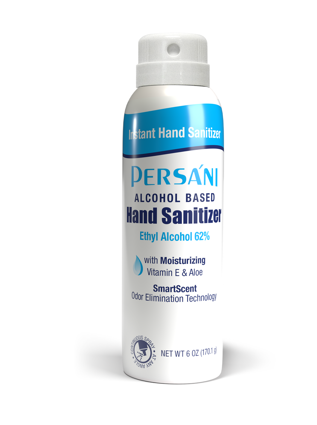 Persani Alcohol Based Instant Hand Sanitizer Continuous Spray - 6 FL OZ