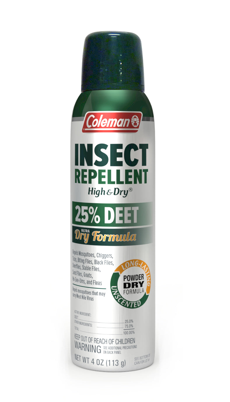 Coleman 25% DEET Dry Insect Repellent Twin Pack, 4-Ounce Aerosol Spray