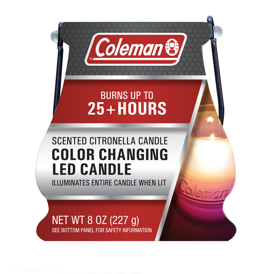 Coleman Color Changing LED Citronella Scented Candle