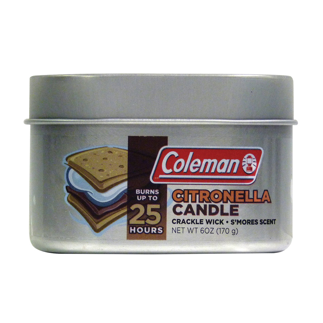 Coleman Scented Citronella Tin Candles - Campfire Scent