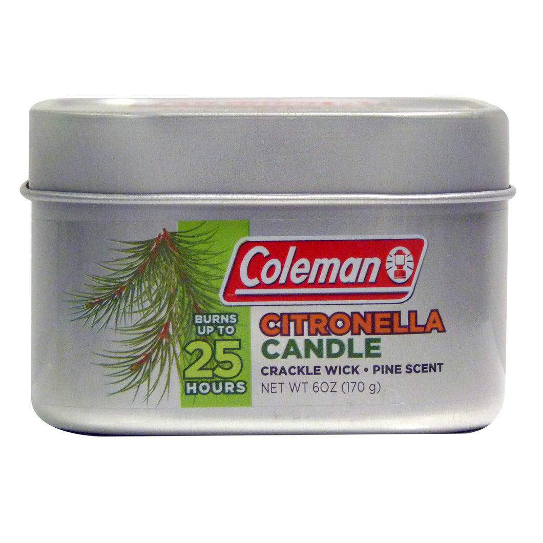 Coleman Scented Citronella Tin Candles - Pine Scent