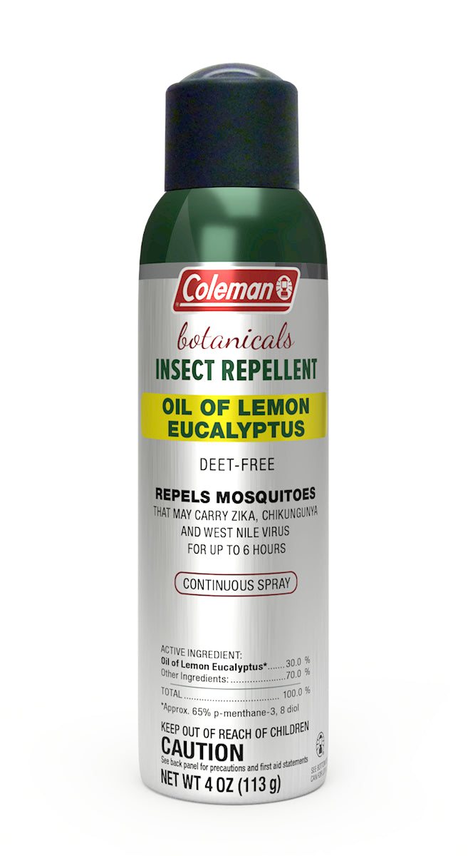 Coleman Oil of Lemon Eucalyptus, Deet Free Insect Repellent Can Spray