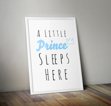 Load image into Gallery viewer, A Little Prince Sleeps Here A4 Print