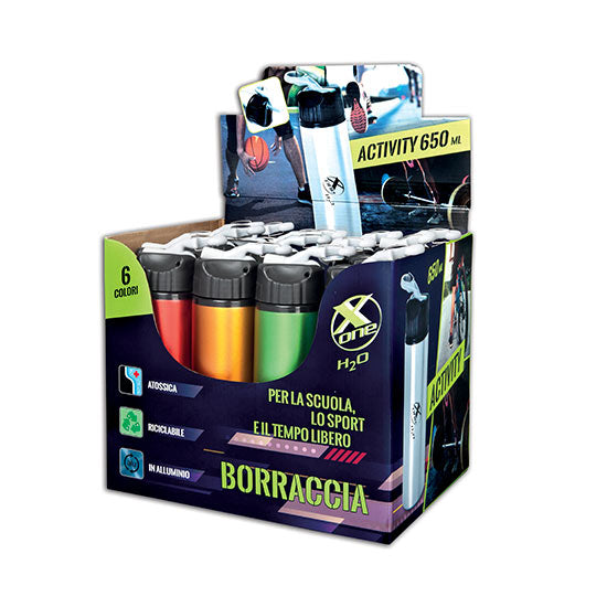 BORRACCIA X-ONE 650ML pz.12 assortiti