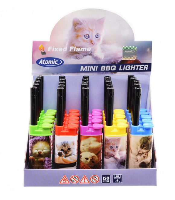 Accendigas Atomic Mini BBQ Cats Expo da 25 pz. assortito con 5 fantasie