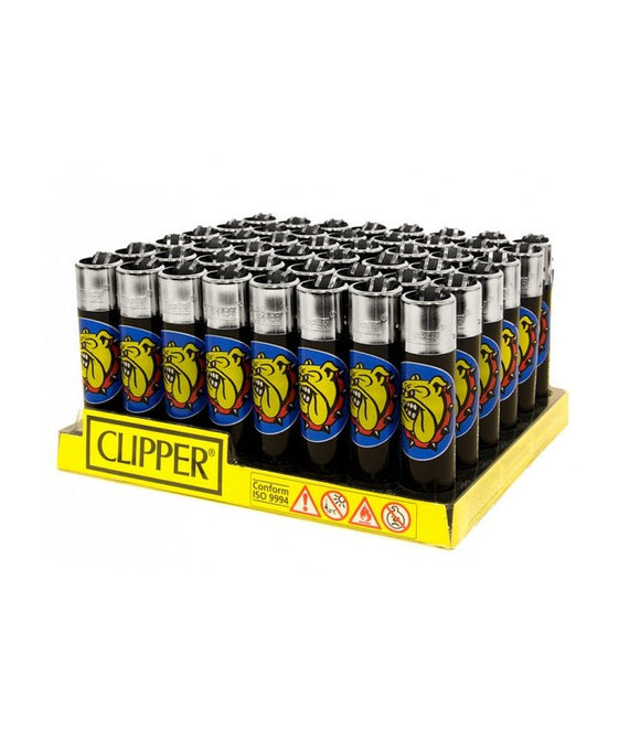 Accendino Clipper Large The Bulldog Black conf. 48 pz