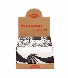 Busta Portatabacco XL Atomic in Similpelle Black&White Conf. 12 pz. Fantasie assortite