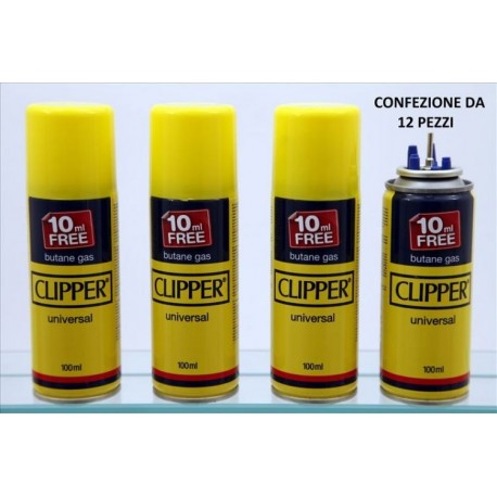 Gas Clipper da 100 ml Punta in Metallo conf. da 12 pz.