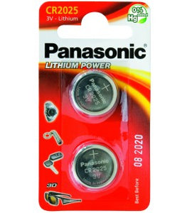 Pila a Bottone Panasonic CR2025 conf 12 pz.