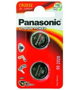 Pila al Litio a Bottone Panasonic CR2032 conf. 12 pz.