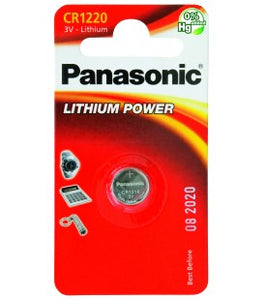 Pila al Litio a Bottone Panasonic CR1220 conf. 12 pz.