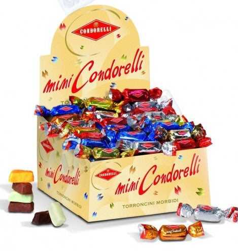 MINI TORRONCINI CONDORELLI IN EXPO DA 1 KG (PZ.92 ) ASSORTITO CON 6 GUSTI
