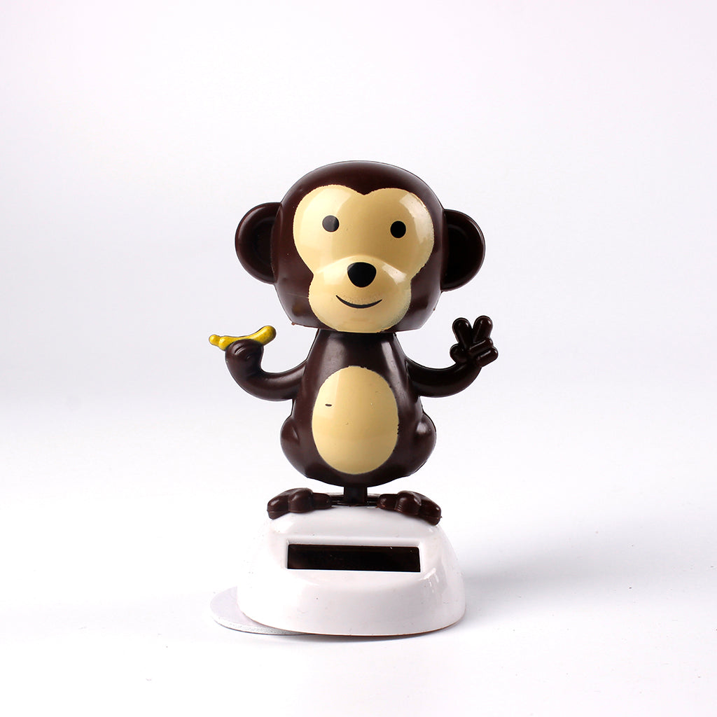 Solar Powered Dashboard Toys Cartoon Monkey