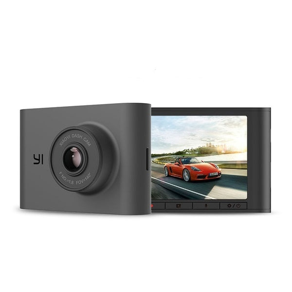 "YI Nightscape Dash Cam 1080p Smart Wi-Fi Car Camera with Heat-Resistant Super capacitor Night Vision 140° FOV 2.4""Screen Black"