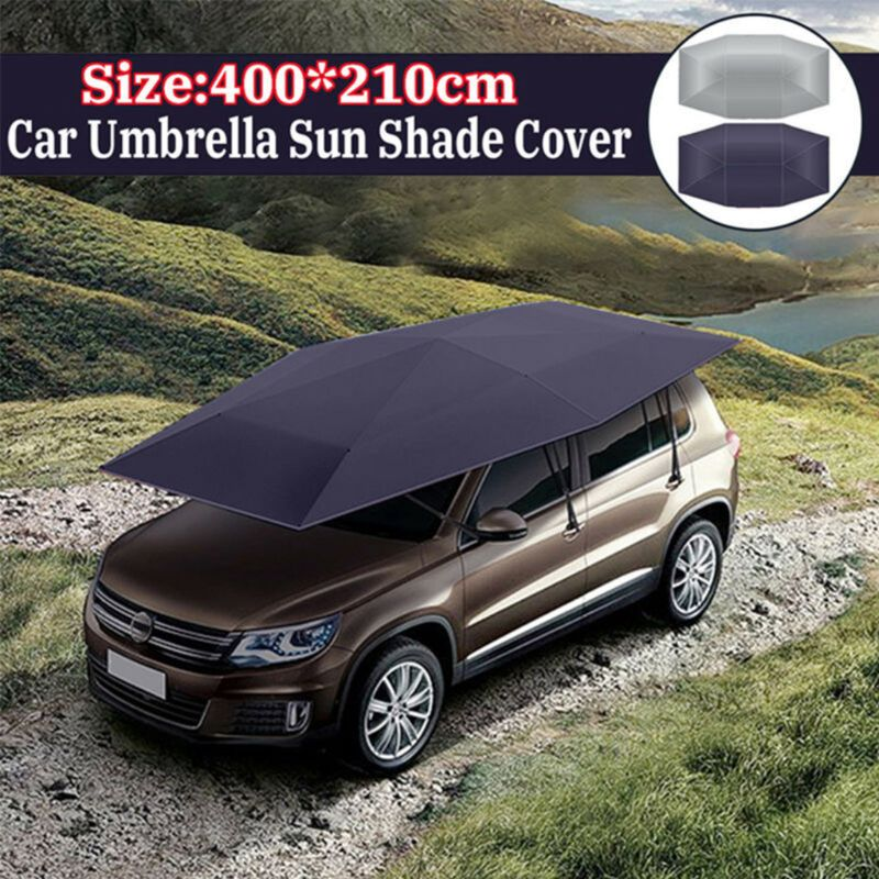 Outdoor Car Sunshade Tent Picnic Heat Insulation Awning Umbrella Vehicle Windproof Buttons Oxford Cloth Sun Shade Auto
